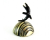 Walter Bosse Dolphin and Waves Bell, 14 cm H, Unmarked