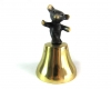 "Bear Bell by Walter Bosse, 9.6 cm H, Marked with ""Handmade in Austria"" sticker"