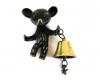 "Walter Bosse Bear Door Bell with Dragonfly Ornament, Marked with ""Made in Austria"" Sticker"