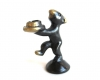 "Walter Bosse Bear Candle Holder, Marked with ""Handmade in Austria"" sticker"