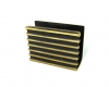 Walter Bosse Striped Matchbox Holder, 5.5 cm L, Unmarked