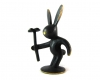 "Rabbit with Flower by Walter Bosse, 6 cm H, Marked ""Bosse Austria"""