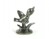 Pewter Bird on Branch Figurine by Walter Bosse
