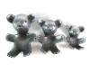 Aluminum Bear Set by Walter Bosse, 14 cm / 12 cm / 9 cm L, Unmarked