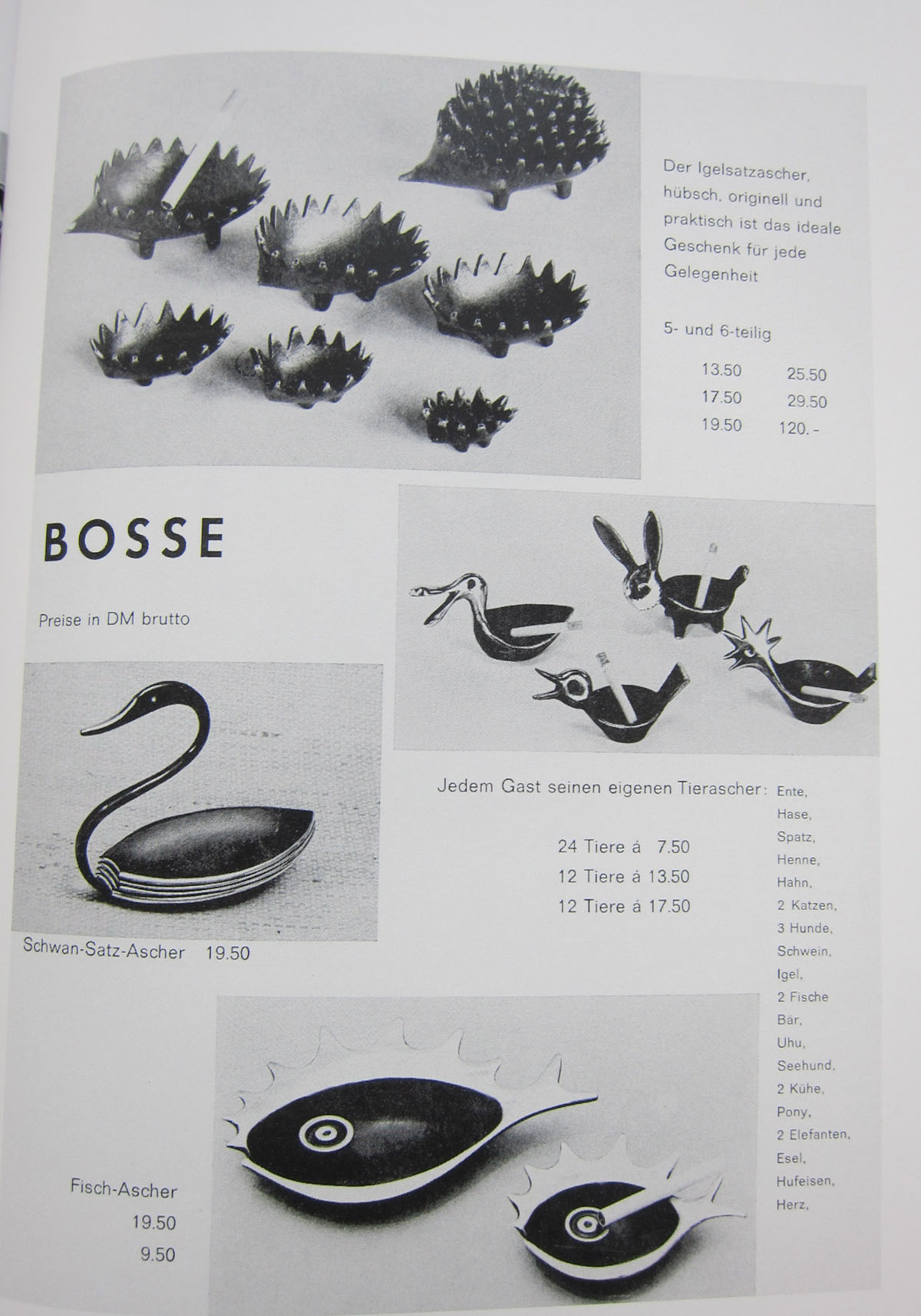 Bosse Catalog Page