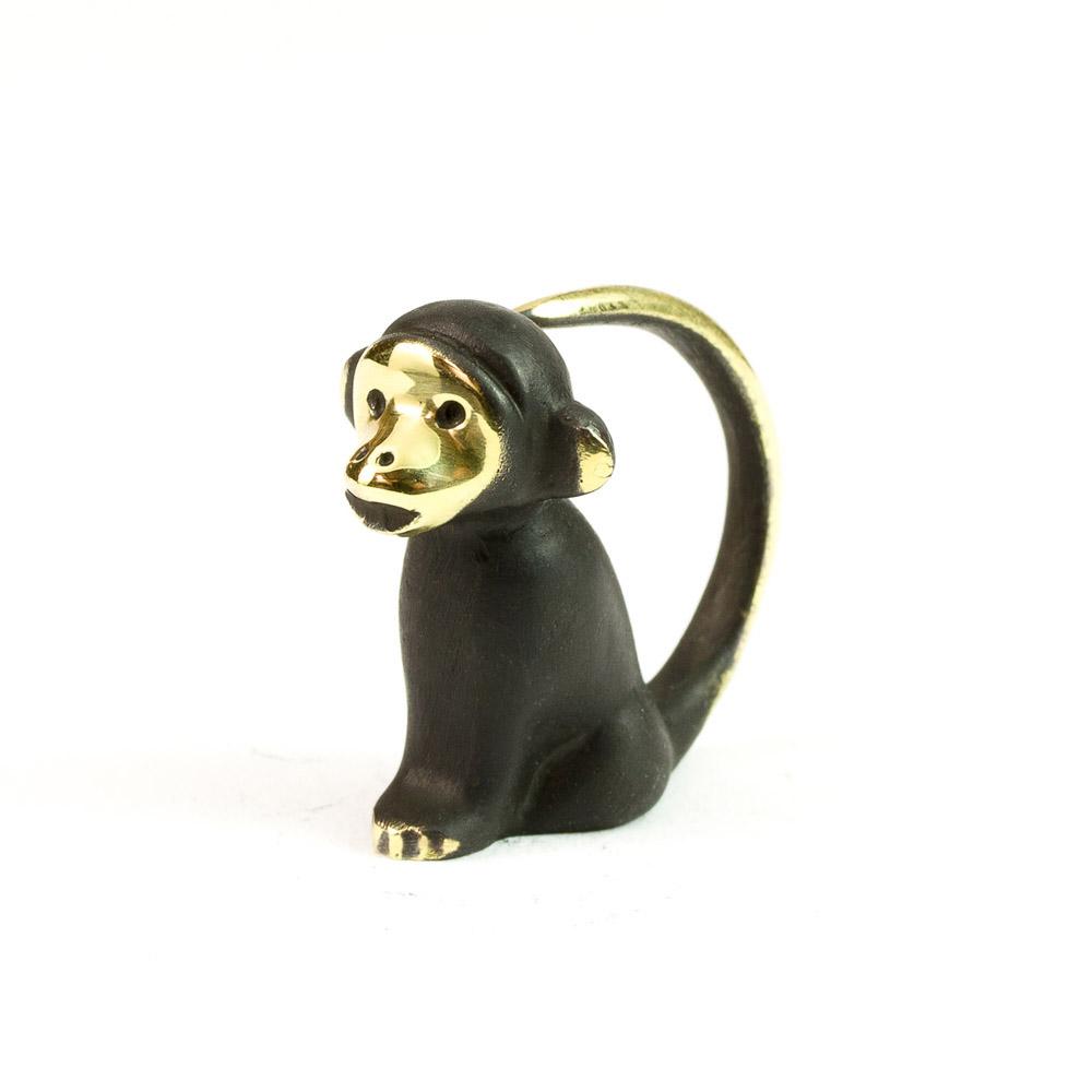 Walter bosse brass monkey figurine affe modern vienna bronze - Gorilla figurines ...