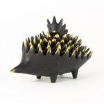 Walter Bosse Bronze Hedgehogs Ashtray Set