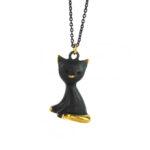"""Walter Bosse Brass Cat Necklace — """"Katze"""" — 4161N"""