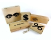 Wooden Printed Boxes by Carl Aubock, Unmarked