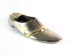 """Brogue Shoe Ashtray, Copper Laces with Nickel over Brass, Marked with """"WHW"""" Logo"""