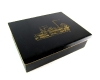 """Bronze and Wood Lined Engraved """"Factory"""" Cigarette Box by Richard Rohac,  Marked """"RR Made in Austria"""""""