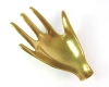 Brass Hand Dish, 13 cm wide, Unmarked