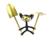Cat With Gardening Tools by Walter Bosse, 11 cm T, Unmarked