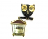 Walter Bosse Owl Thermometer Holder, 8 cm H, Unmarked