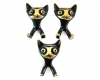 """Cat Key Hooks by Walter Bosse, 8 cm H, Marked with """"Made in Germany"""" stickers"""