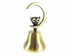 "Owl on Moon Bell by Walter Bosse, 11.4 cm H, Marked with ""Handmade in Austria"" sticker"
