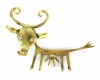 "Cow Key Rack by Walter Bosse, 25 cm L, Marked with ""Handmade in Austria"" sticker"