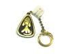 """Walter Bosse Dog Keyring, Marked with """"Made in Austria"""" Sticker"""