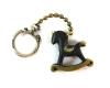 "Rocking Horse Keychain by Walter Bosse, 2.5 cm L, Marked ""Austria"" and ""Sterling"" for the ring"