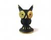 "Eagle Owl by Walter Bosse, 2.6 cm H, Marked ""Baller Austria"""