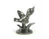 Pewter Bird on Branch Figurine by Walter Bosse