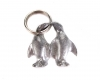 Walter Bosse Pewter Pair of Penguins Keychain
