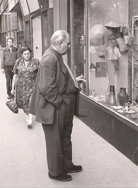 Karl Hagenauer in Front of his Shop in the 50s