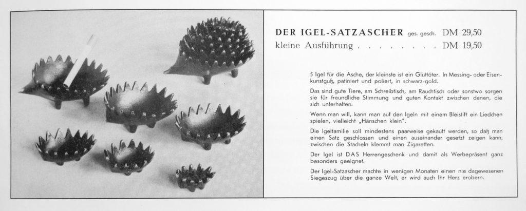 Walter Bosse Hedgehog Advertisement