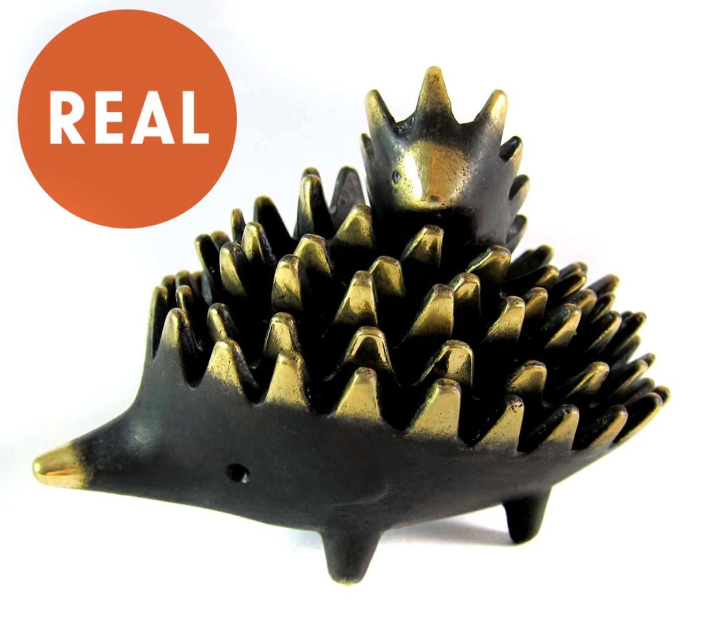 Walter Bosse Hedgehog Ashtrays - Real