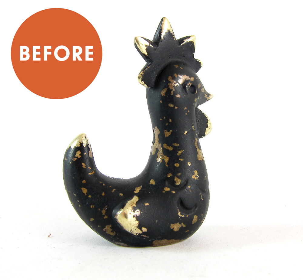 Walter Bosse Rooster Figurine Restoration