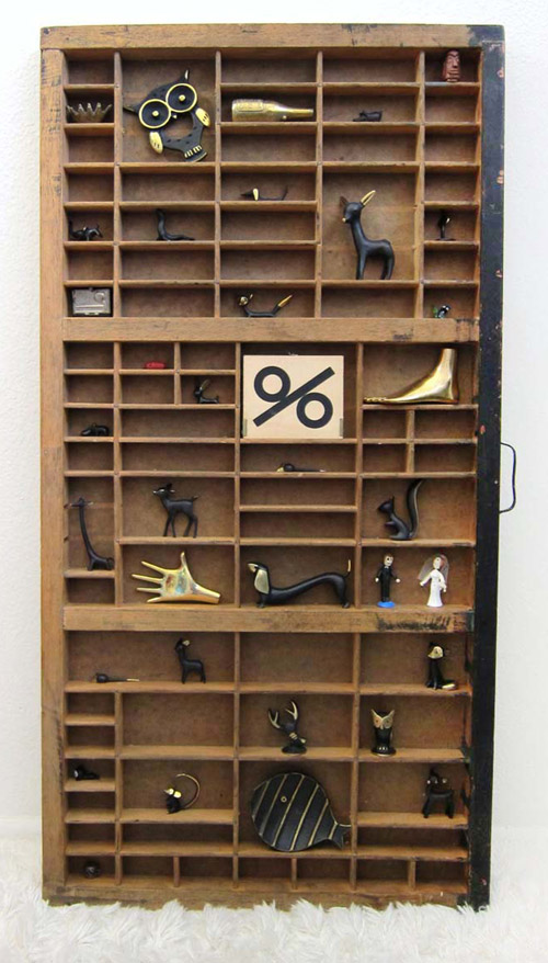 Walter Bosse Letterpress Drawer Display Shadow Box