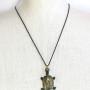 """Walter Bosse Brass Sea Turtle Necklace — """"Schildkröte"""" — 6113N"""