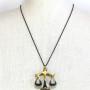 "Walter Bosse Brass Libra Scales Necklace — ""Waage"" — 6017N"