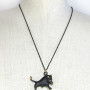 "Walter Bosse Brass Taurus Bull Necklace — ""Stier"" — 22N"