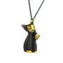 "Walter Bosse Brass Pair of Cats Necklace — ""Katzenpaar"" — 5251N"