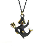 "Walter Bosse Brass Aquarius Necklace — ""Wassermann"" — 6021N"