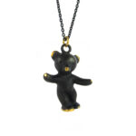 "Walter Bosse Brass Bear Necklace — ""Bär"" — 2037N"