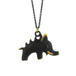"Walter Bosse Brass Wild Boar Necklace — ""Wildschwein"" — BO21N"