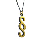 "Walter Bosse Brass Section Symbol Necklace — ""Paragraf"" — 5395N"