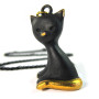 "Walter Bosse Brass Cat Necklace — ""Katze"" — 4161N"