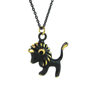 "Walter Bosse Brass Leo Lion Necklace — ""Löwe"" — 6015N"
