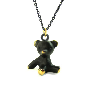 "Walter Bosse Brass Bear Necklace — ""Bär"" — 1054N"