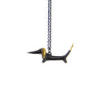 "Walter Bosse Brass Dachshund Necklace — ""Dackel"" — 394N"