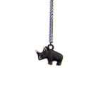 "Walter Bosse Brass Rhino Necklace — ""Nashorn"" — 6004N"
