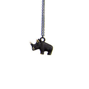 "Walter Bosse Brass Rhino Necklace — ""Nashorn"" — 6004N"