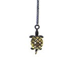 "Walter Bosse Brass Turtle Necklace — ""Schildkröte"" — 5436N"
