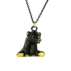 "Walter Bosse Brass Bear Necklace — ""Bär"" — 6027N"