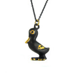 "Walter Bosse Brass Duck Necklace — ""Ente"" — 2080N"