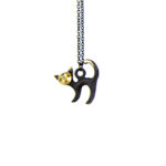 "Walter Bosse Brass Cat Necklace — ""Katze"" — 70N"