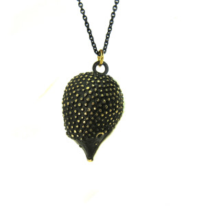 "Walter Bosse Brass Hedgehog Necklace — ""Igel"" — 6115N"